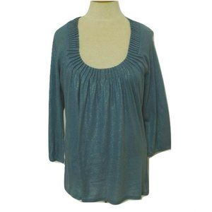 "Tahari ""Surf"" Wedgewood/Shimmer Top NWT- Size Sm."